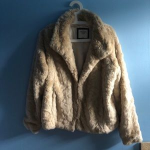 Abercrombie & Fitch Faux Fur Coat